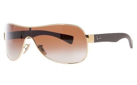 Sluneční brýle s hnědým přechodem čoček a zlatými obroučkami Ray-Ban