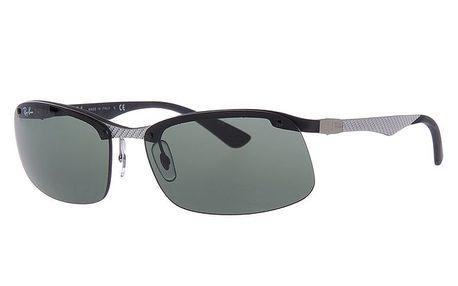 Pánské stříbro-černé sluneční brýle bez obrouček Ray-Ban