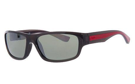 Pánské antracitové sluneční brýle s červeným pruhem na stranicích Ray-Ban