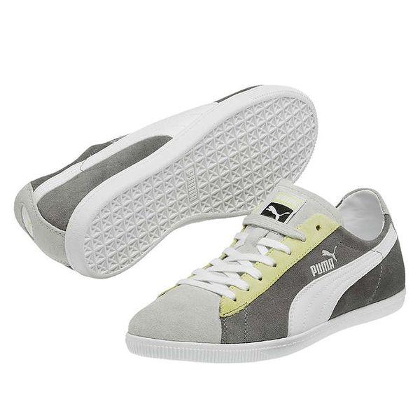 Dámské šedé tenisky s bílým proužkem Puma