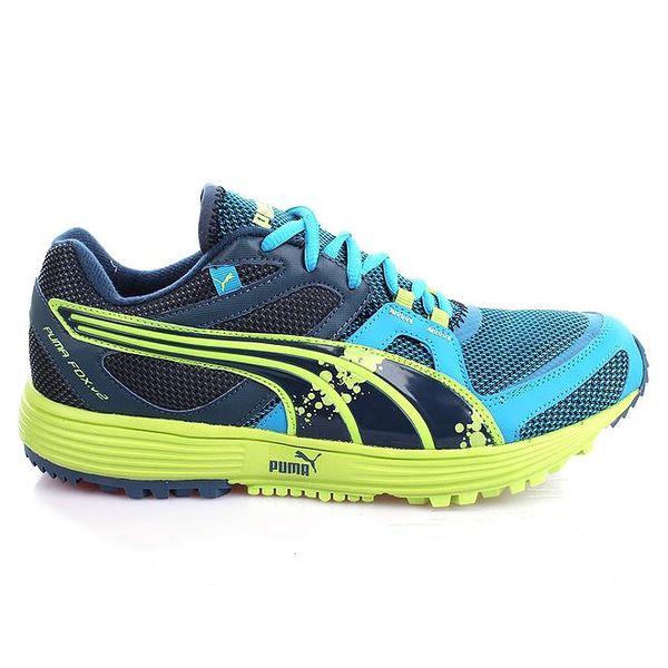 Pánské modro-zelené sportovní tenisky Puma