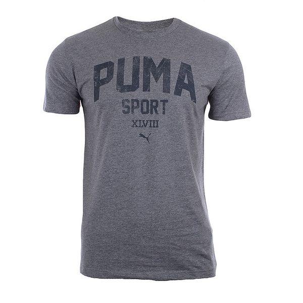 Pánské šedé tričko s nápisem Puma