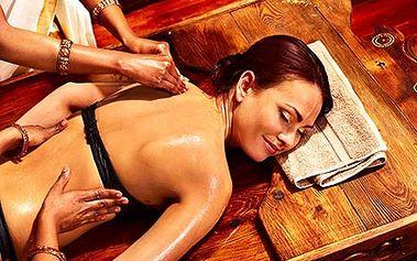 Luxusní čtyřruční masáž celého těla pro komplexní ...