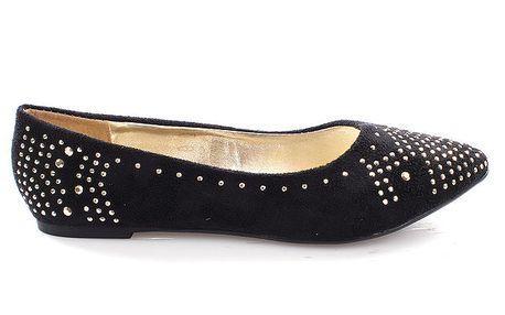 Dámské černé boty s kamínky So Real