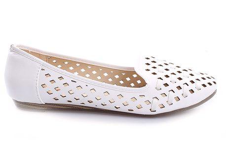 Dámské bílé perforované loafers So Real