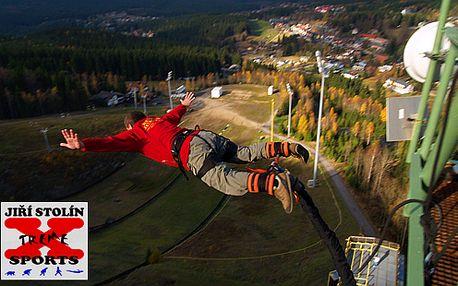 Extrémní Bungee Jumping v 5 lokalitách České republiky z výšky až 120 metrů