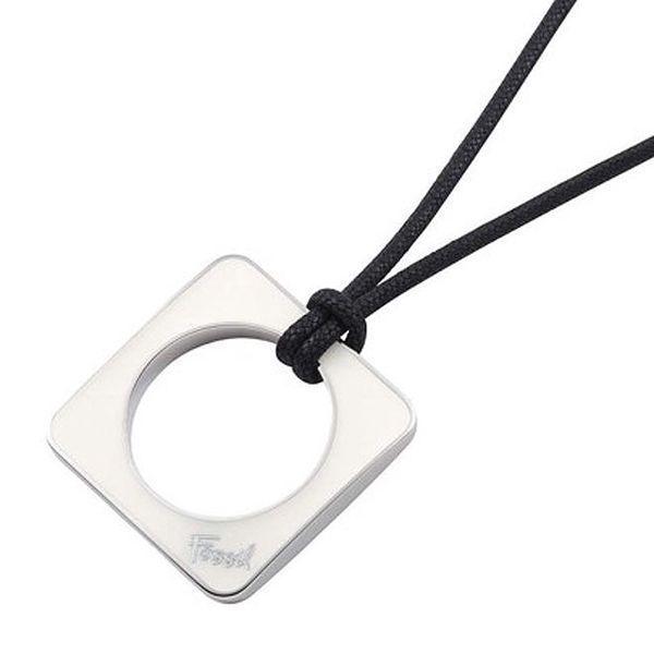 Dámský náhrdelník s ocelovým hranatým přívěskem Fossil
