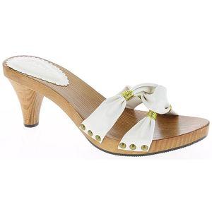 Dámské bílé sandálky se zlatou nití Andrea Conti