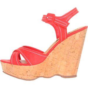 Dámske červené sandálky na platforme Ana Lublin