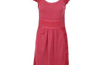 Dámské malinové šaty s průstřihem Angels Never Die