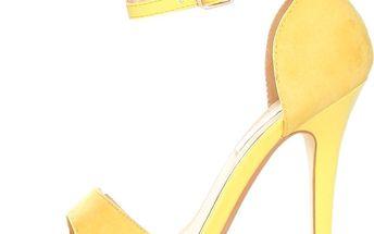 Žluté sandálky s jehlovým podpatkem Ana Lublin
