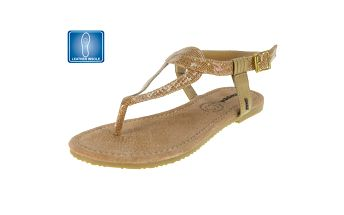 Dámské lesklé sandály se vzorem Beppi