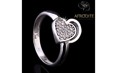 Dámský prsten ve tvaru srdce Afrodite
