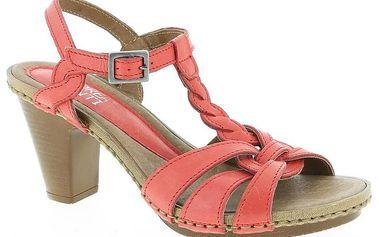 Dámské kožené červené sandálky Andrea Conti