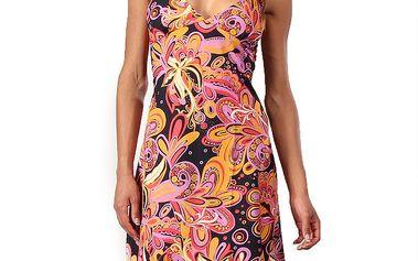 Dámské šaty s oranžovo-růžovým potiskem Aller Simplement