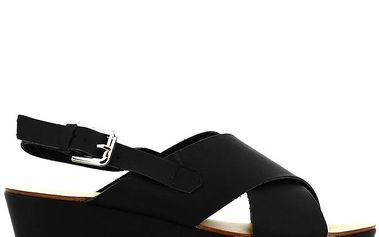 Dámské černé sandály na vysoké platformě Shoes and the City