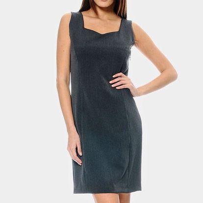 Dámské šedé šaty ODM Fashion