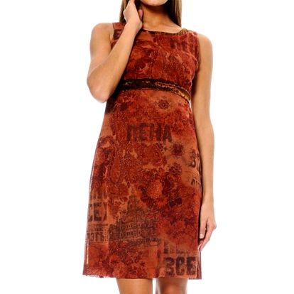 Dámské cihlově červené šaty ODM Fashion