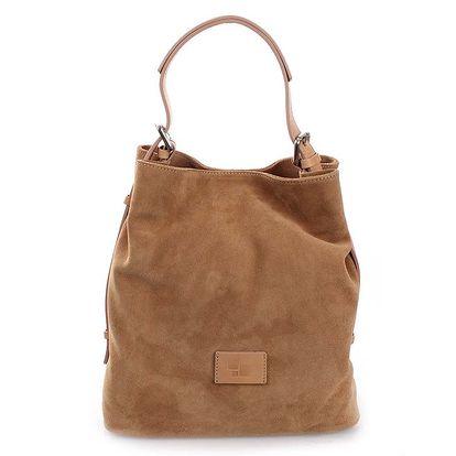 Dámská hnědobéžová semišová kabelka Puntotres