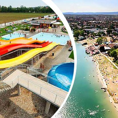 Slunečná jezera s polopenzí, bazénem, aquaparkem a wellness pro dva