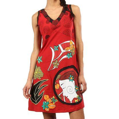 Dámské červené šaty bez rukávů Aller Simplement