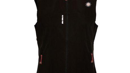 Dámská černá softshellová vesta Alpine Pro