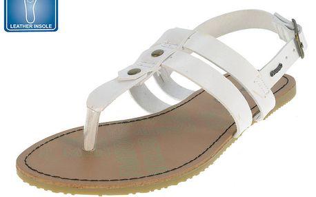 Dámské bílé páskové sandály Beppi