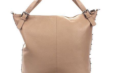 Dámská béžová kabelka s cvočky Puntotres