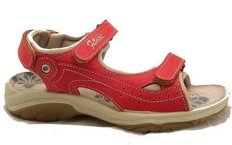 Dámské červené trekové sandálky Numero Uno