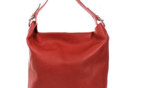 Dámská červená kabelka s jedním uchem Puntotres
