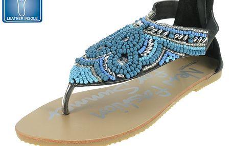 Dámské sandály s korálkovou ozdobou Beppi