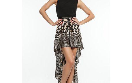 Dámské černo-béžové asmyterické šaty Renata Biassi