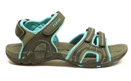 Dámské šedo-modré trekové sandálky Numero Uno