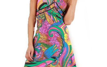 Dámské duhově barevné šaty Aller Simplement