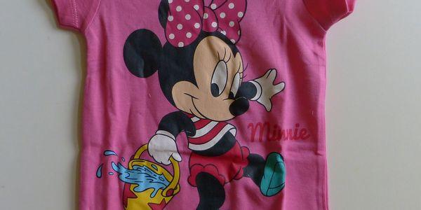 Disney Baby Kojenecké bavlněné body kr.rukáv Minnie Mouse tm. růžová vel. 74/80