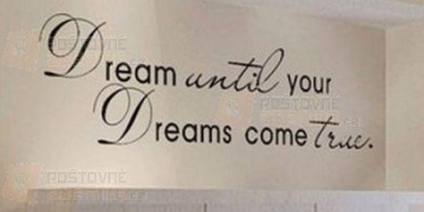 Nálepka na zeď - Sni, dokud se tvé sny nestanou skutečností a poštovné ZDARMA! - 21812162