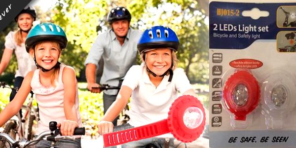 Sada 2ks LED cyklosvětýlek červené a bílé barvy.Cyklosvítilna s možností uchycení na části oblečení pro chodce a dětské kočárky.Díky malým rozměrům a jednoduché instalaci je možné LED cyklosvítilnu kdykoli odpojit a vzít s sebou.