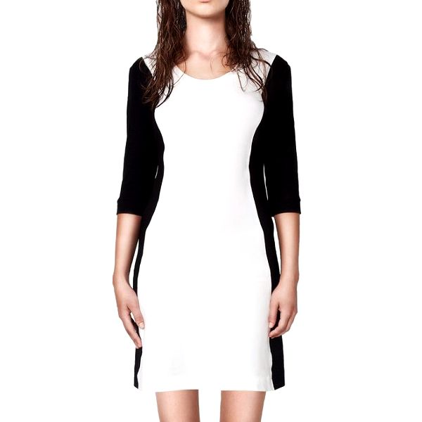 Dámské černobílé upnuté šaty Yuliya Babich
