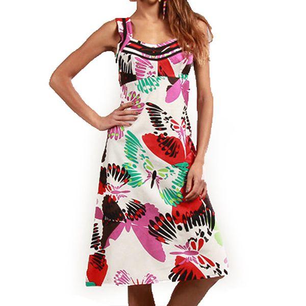Dámské šaty s barevnými motýlky Aller Simplement