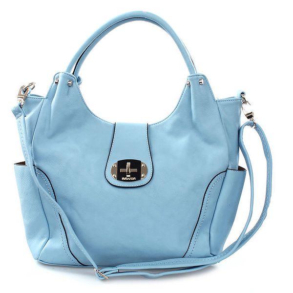 Dámská blankytně modrá kabelka Bessie se zámečkem