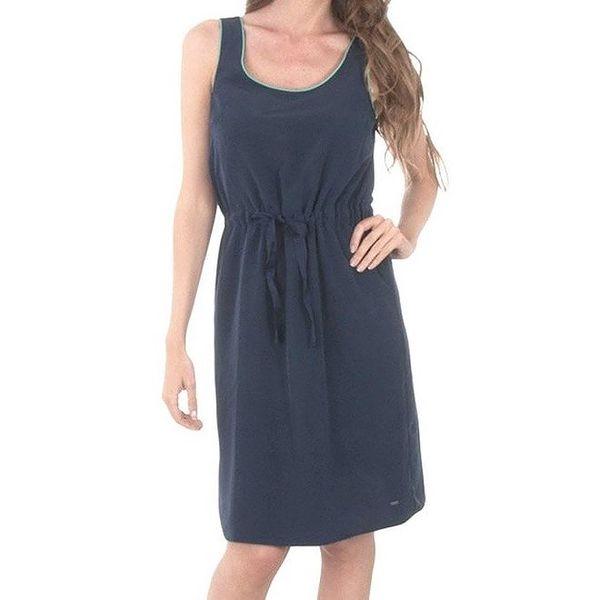 Dámské tmavě modré šaty s tyrkysovám lemováním Tommy Hilfiger