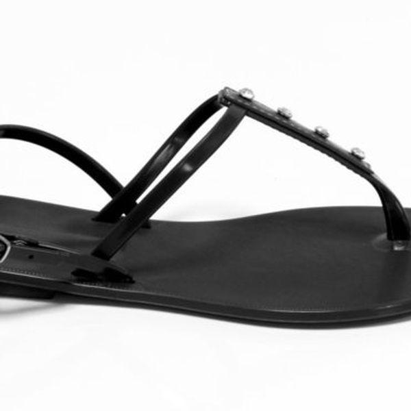 Dámské černé sandály Favolla s kamínky