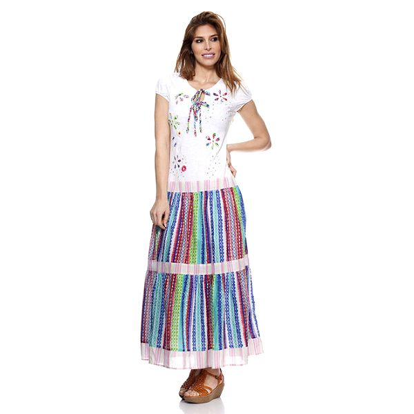 Dámské šaty s pruhovanou sukní Peace&Love