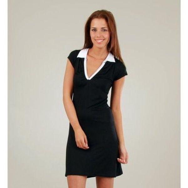 Dámské černé šaty s bílým límečkem Ginger Ale