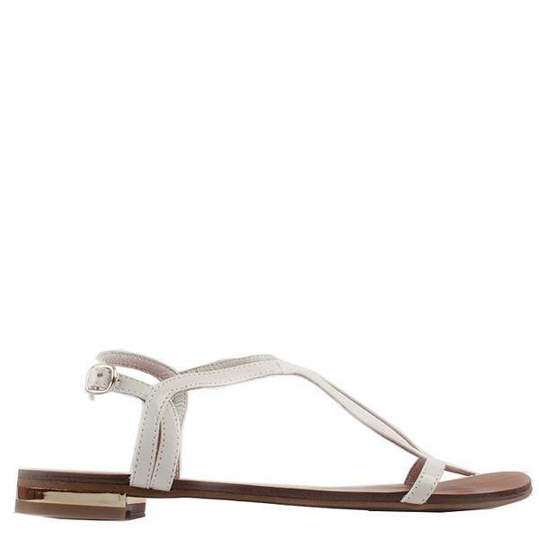 Dámské bílé sandálky se zlatým podpatkem Elite