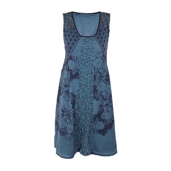 Dámské modré šaty se širokou sukní Angels Never Die