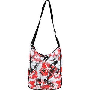 Unisex taška s bílo-červeno-černým potiskem Authority