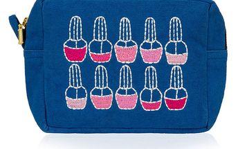 Modrá taška na make-up Sewlomax