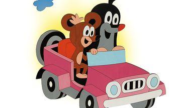 POMYTOYS 74295 - Lampička - Krtek v autíčku