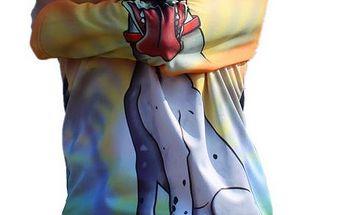 3 D dětské triko s kapucou - dlouhý rukáv Pejsek vel. 8- 9 let